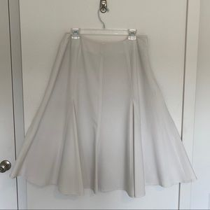 Chadwicks cream colored full suit skirt size 14P